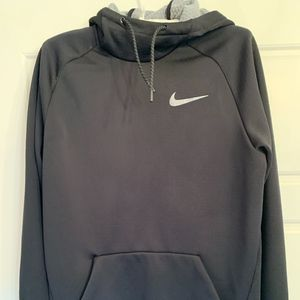 Nike Shirts - Mens Dri-Fit Black Nike Hoodie